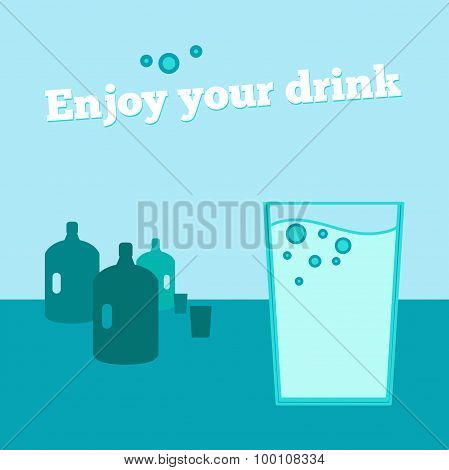 Vector Poster, Banner With Glass