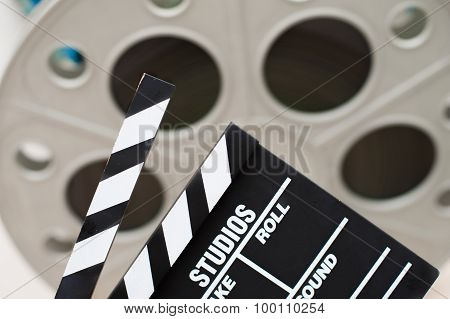 Movie Clapper Board Close Up