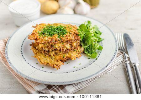 Czech Potato Fried Pancakes