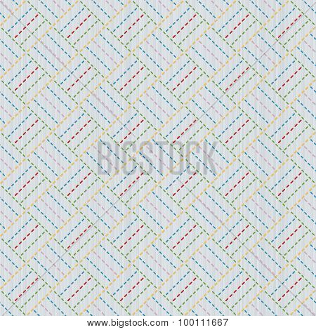 Old japanese quilting. Sashiko. Seamless pattern.