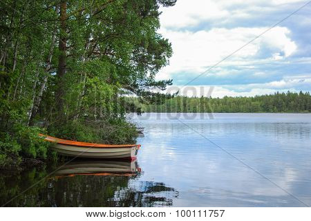 Moored Rowing Boat
