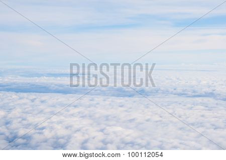 View From Off The Plane On Clouds