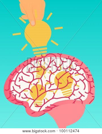 Theft of intellectual property. Idea Stealing. Vector illustration