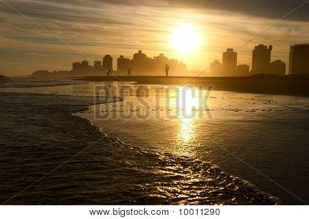 Warm Evening On The Beach