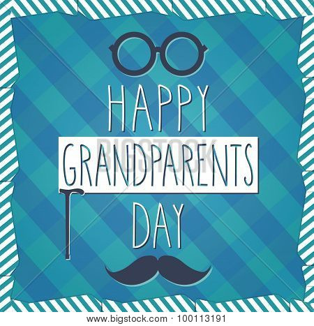 Grandparents Day hand drawn poster. Cloth background