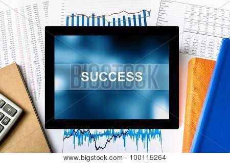 Success Word On Tablet