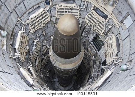 A Titan II ICBM In Its Silo