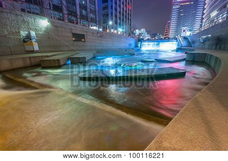 Cheonggyecheon Stream.