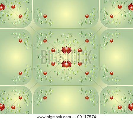 Seamless background with patterns of flowers. EPS10 vector illustration