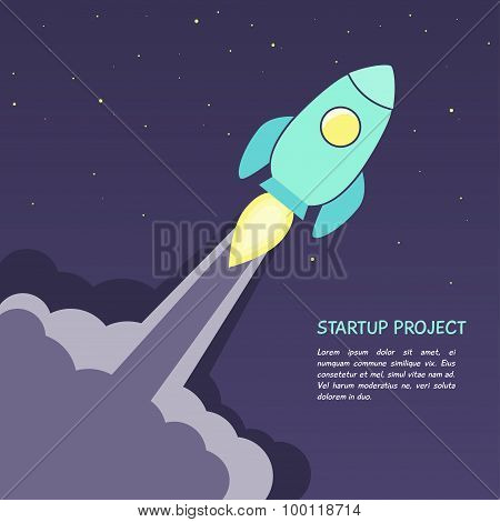 New business start-up project rocket