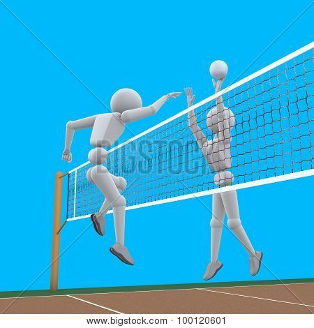 Powerful Attack Volleyball