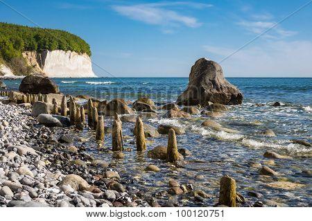 Chalk Cliff On The Island Ruegen