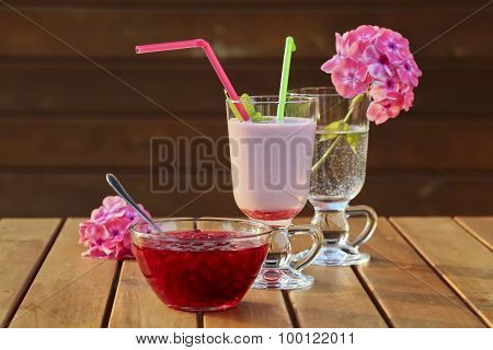 Red Currant Jam And Milkshake