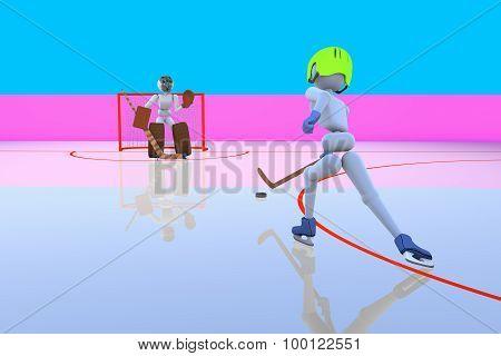 Hockey Player Attack Gate