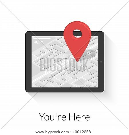 Tablet pc with gps navigation