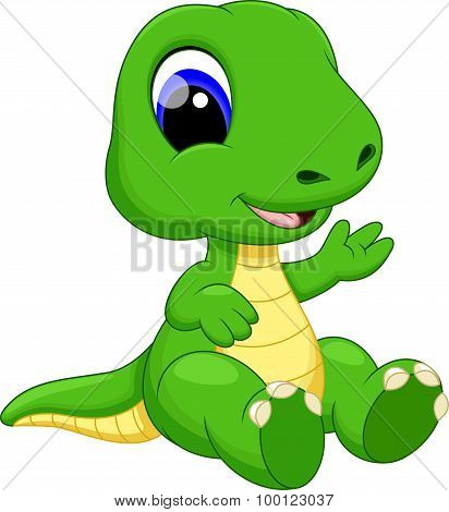 Cute baby dinosaur cartoon