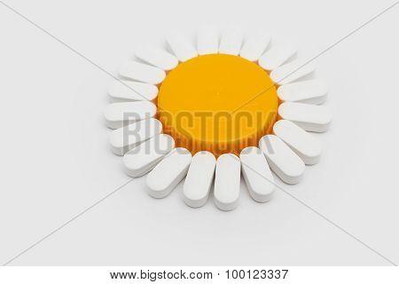 Flower shaped pills
