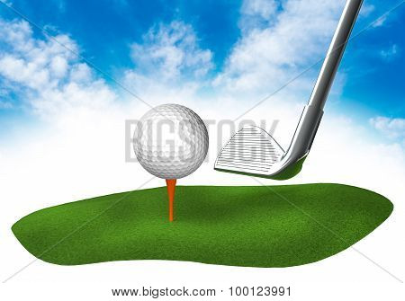 Land With Golf In The Sky