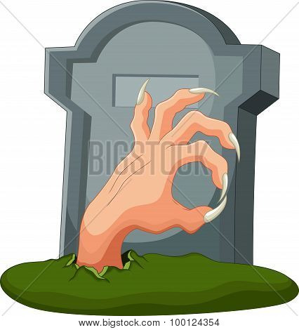 Hand out of the grave