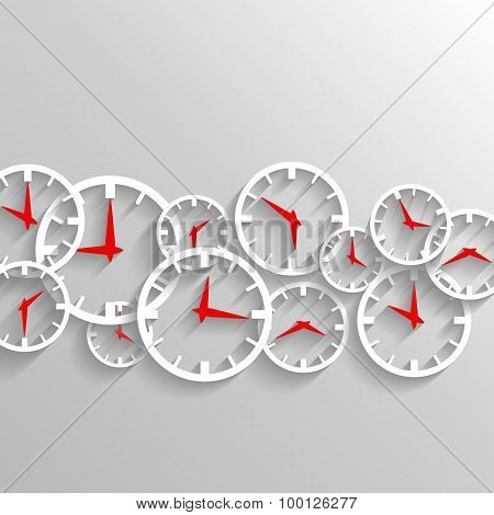 Time For Business, Watch Elements Background, analog clock design