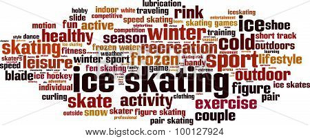 Ice Skating Word Cloud