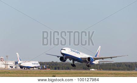 Transaero Plane Takes Off