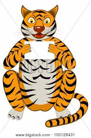 Funny Cartoon Tiger