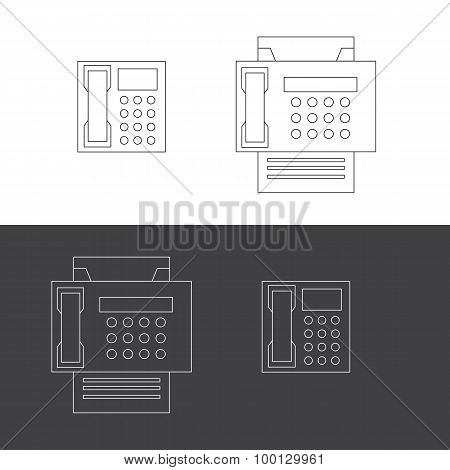 Telephone And Fax Icons
