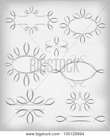 Vector set. a lot of design elements and page decoration. EPS10 vector illustration