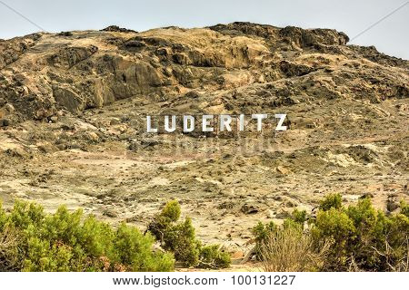 Luderitz City Sign