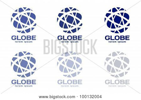 Abstract earth logo. Globe logo icon