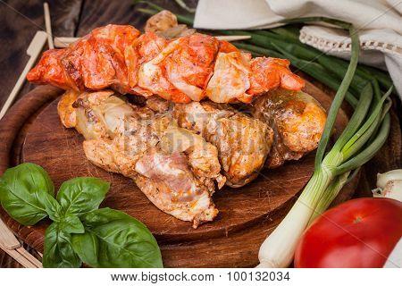 Grilling Shashlik.
