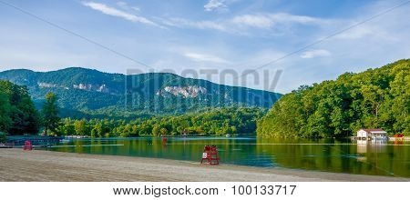 Chimney Rock Town And Lake Lure Scenes