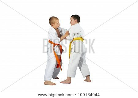 Techniques Judo in performing athletes in judogi
