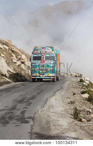 Truck On The High Altitude Manali - Leh Road , India