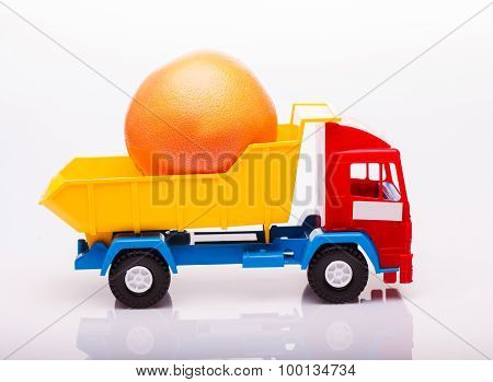Grapefruit On Lorry