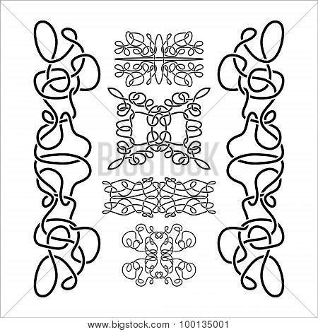 Traditional Vector Celtic Ornament Set
