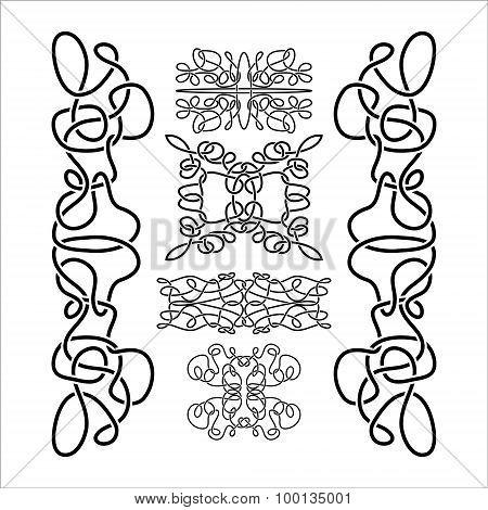 Traditional Vector Celtic Ornament Set