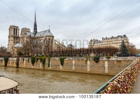 Notre Dame Cathedral And A Bridge Of The Archbishopric .