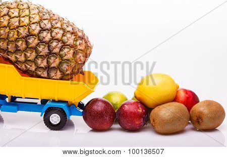 Tropical Fruit On Truck