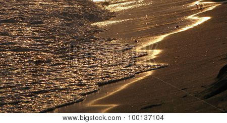 Evening Tide At The Beach