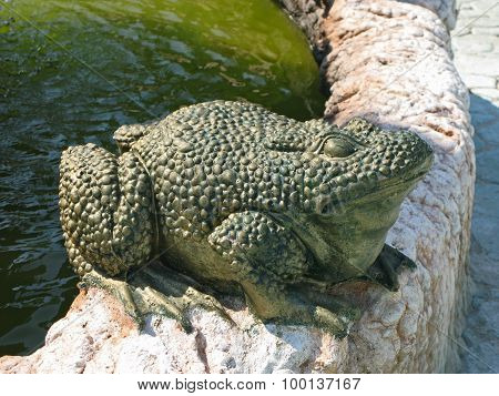 Stone Sculpture Of A Toad
