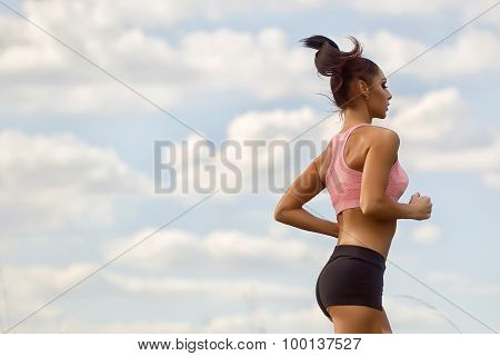 Slim Woman Running