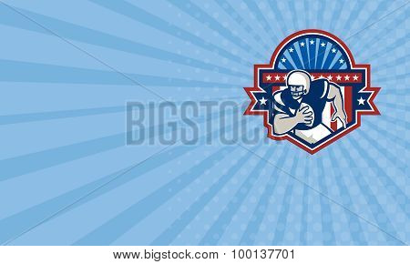 Business Card American Football Qb Quarterback Crest