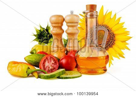 Sunflower Seed Oil And Vegetables