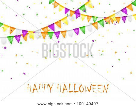 Halloween Pennants And Confetti