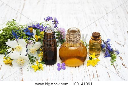 Nature Oil With Wildflowers