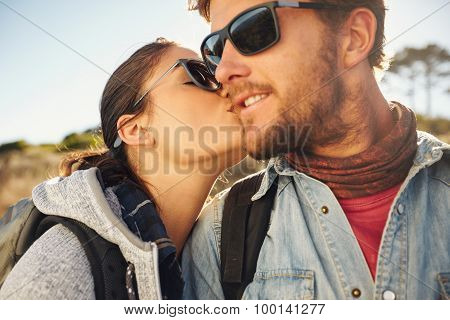 Love Couple On A Hike