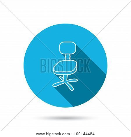 Office chair icon. Business armchair sign.