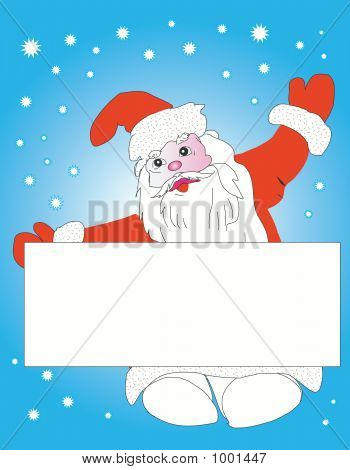 Christmas  Santa Claus With Card